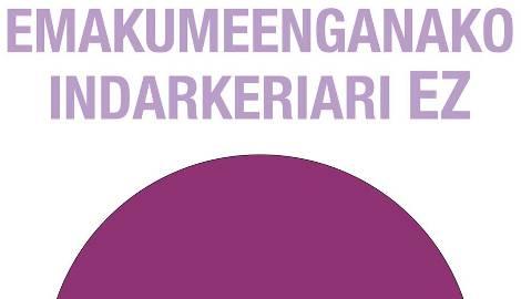 Emakumeenganako_indarkeriari_ez